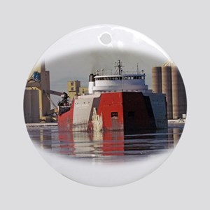 Roger Blough in Duluth harbor Ornament (Round)