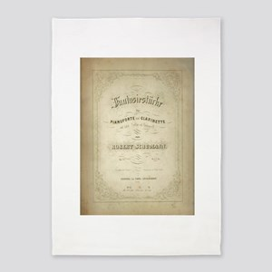 Schumann Vintage Sheet Music 5'x7'Area Rug