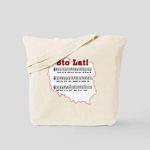 Sto Lat! Song Polish Map Tote Bag