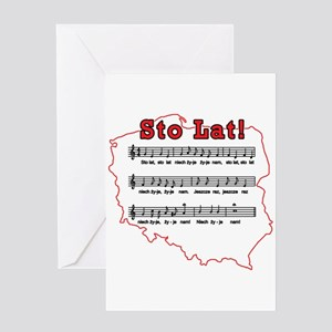 Sto Lat! Song Polish Map Greeting Card