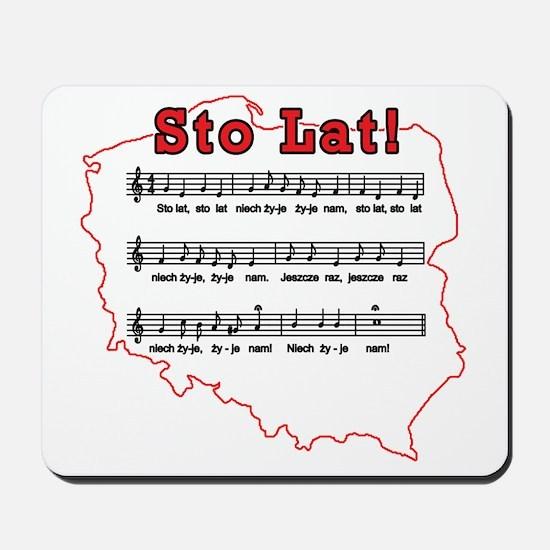 Sto Lat! Song Polish Map Mousepad