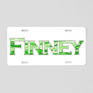 Finney Printed Name Aluminum License Plate