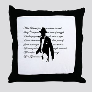 Gentleman's Code Throw Pillow