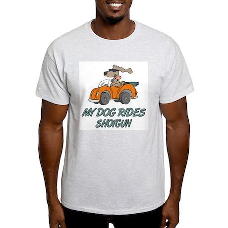 Dog Rides Shotgun Ash Grey T-Shirt