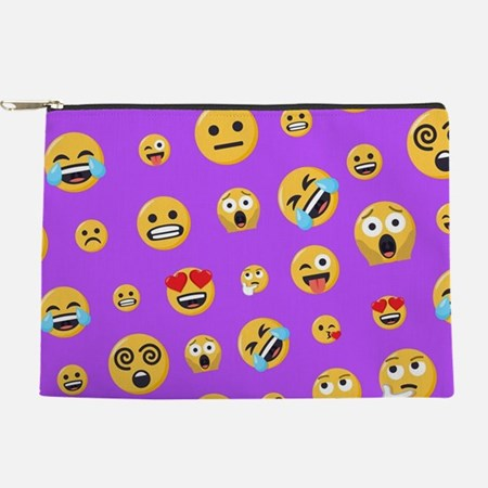Smiley Emoji Pattern Makeup Bag