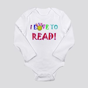 Love to Read Long Sleeve Infant Bodysuit