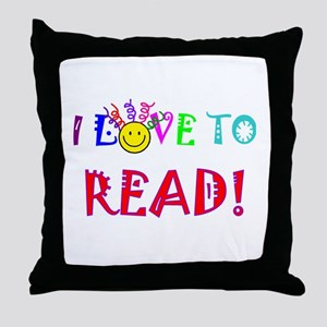 Love to Read Throw Pillow