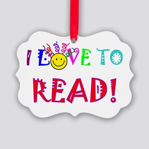 Love to Read Picture Ornament