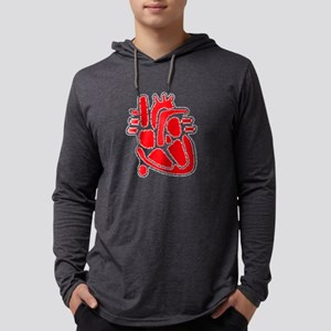 Anatomical Heart Men's Mens Hooded Shirt