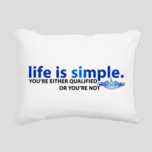 Life is Simple Rectangular Canvas Pillow