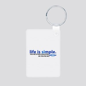 Life is Simple Aluminum Photo Keychain