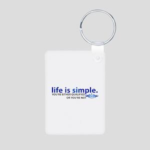 Life is Simple Aluminum Photo Keychain