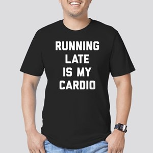Running Late Is My Car Men's Fitted T-Shirt (dark)