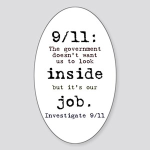 9/11: It's up to us Oval Sticker