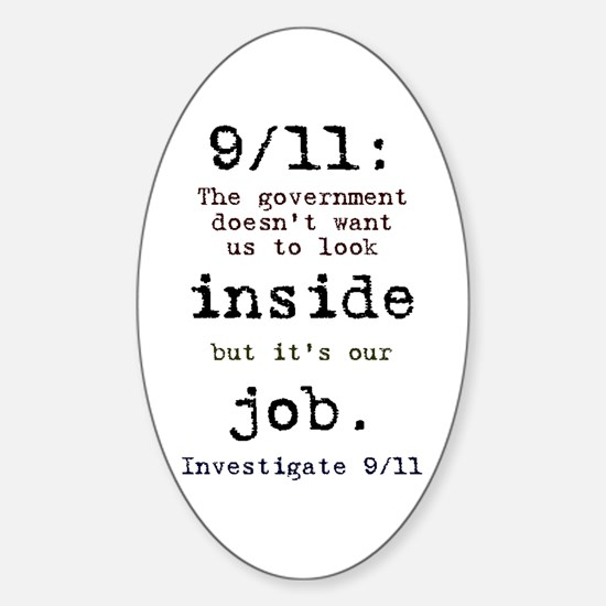9/11: It's up to us Oval Decal