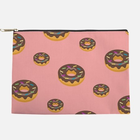 Donut Pink Pattern Makeup Pouch