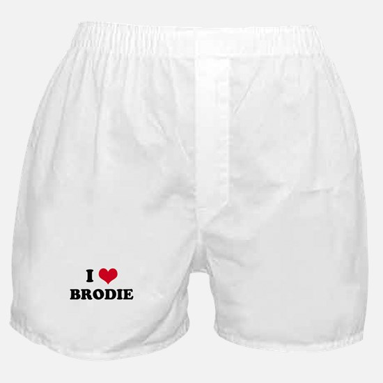 I HEART BRODIE  Boxer Shorts