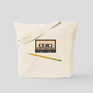 Old School Cassette Tote Bag