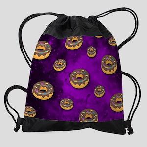 Donut Galaxy Pattern Drawstring Bag