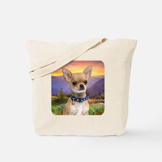 Chihuahua Meadow Tote Bag