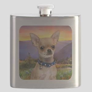 Chihuahua Meadow Flask