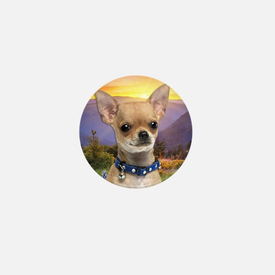 Chihuahua Meadow Mini Button