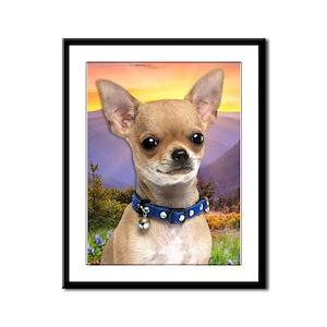 Chihuahua Meadow Framed Panel Print
