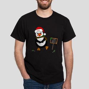 Add Name To Dancing Penguin Dark T-Shirt
