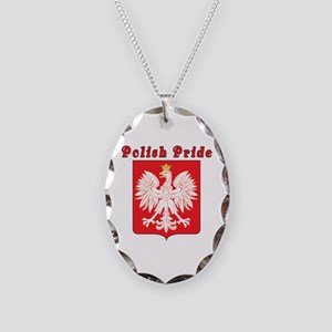 Polish Pride Eagle Necklace Oval Charm