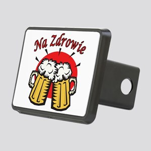 Na Zdrowie Toast With Beer Mugs Rectangular Hitch
