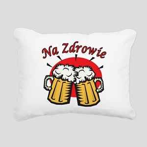Na Zdrowie Toast With Beer Mugs Rectangular Canvas
