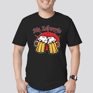 Na Zdrowie Toast With Beer Mugs Men's Fitted T-Shi