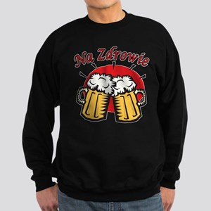 Na Zdrowie Toast With Beer Mugs Sweatshirt (dark)