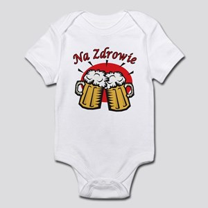 Na Zdrowie Toast With Beer Mugs Infant Bodysuit