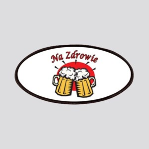 Na Zdrowie Toast With Beer Mugs Patches