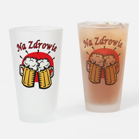 Na Zdrowie Toast With Beer Mugs Drinking Glass