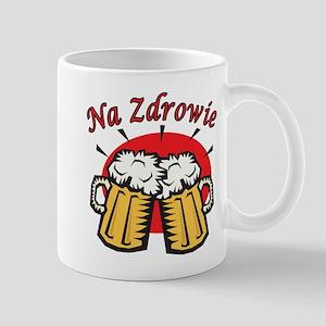 Na Zdrowie Toast With Beer Mugs Mug