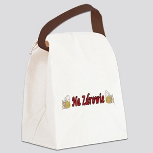 Na Zdrowie Toast Beer Mugs Canvas Lunch Bag