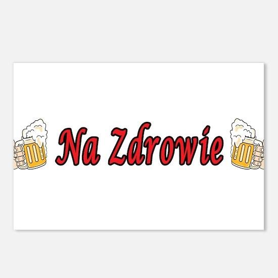 Na Zdrowie Toast Beer Mugs Postcards (Package of 8