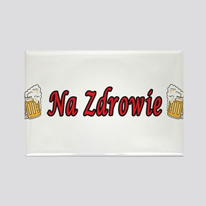 Na Zdrowie Toast Beer Mugs Rectangle Magnet