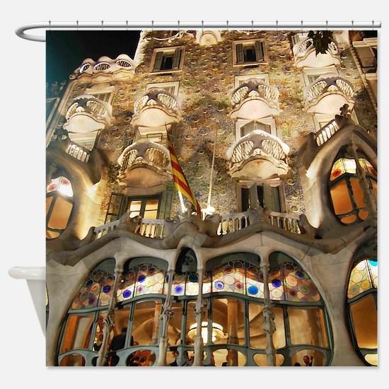 Casa Batllo by Gaudi Shower Curtain