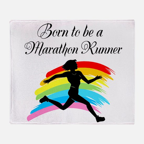 MARATHON RUNNER Throw Blanket