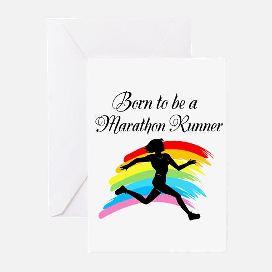 MARATHON RUNNER Greeting Cards (Pk of 10)