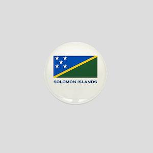 The Solomon Islands Flag Gear Mini Button