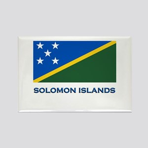 The Solomon Islands Flag Gear Rectangle Magnet