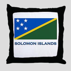 The Solomon Islands Flag Gear Throw Pillow