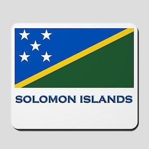 The Solomon Islands Flag Gear Mousepad