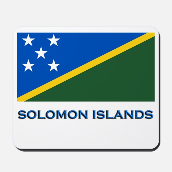 The Solomon Islands Flag Gear Mousepad