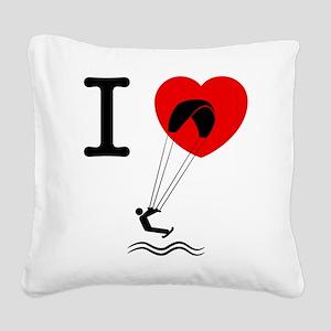 Kiteboarding Square Canvas Pillow