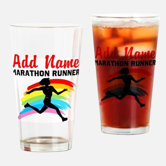 MARATHON RUNNER Drinking Glass